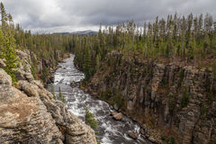 Scenic Lewis River Canyon Royalty Free Stock Images