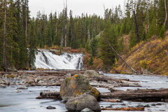 Scenic Lewis River Falls Royalty Free Stock Photos