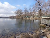 Lake Thawing Early Spring Royalty Free Stock Photography