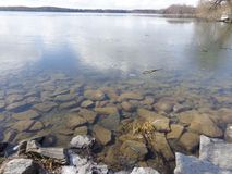 Lake Thawing Early Spring Stock Images