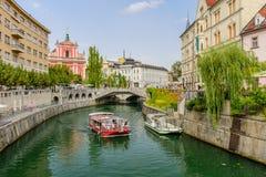 The scenic Ljubljanica river Stock Photo