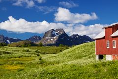 Scenic Lofoten Stock Photography
