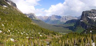 Scenic Logan pass Stock Photography