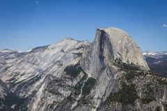 Half dome in Yosemite National Park, California Royalty Free Stock Images