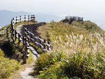 Scenic lookout at the north rim of Aso volcanic caldera. Aso-Kuju National Park, Kumamoto prefecture, Japan royalty free stock images