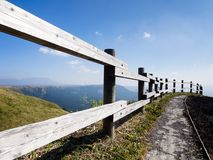 Scenic lookout at the north rim of Aso volcanic caldera. Aso-Kuju National Park, Kumamoto prefecture, Japan royalty free stock photos