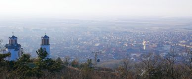 Scenic lookout of Vrsac Stock Images