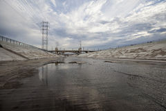 Scenic Los Angeles River Royalty Free Stock Photo