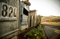 Scenic mailboxes on the California coast. Stock Photography