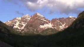 Scenic Maroon Bells Aspen Colorado stock footage