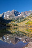 Scenic Maroon Bells Landscape in Fall Royalty Free Stock Photography