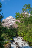 Scenic Maroon Bells Summer Landscape Stock Photo