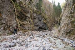 Scenic Martuljek gorge in Triglav national park in Julian Alps in Slovenia Stock Photo