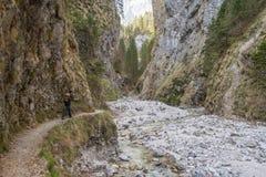 Scenic Martuljek gorge in Triglav national park in Julian Alps in Slovenia Stock Image