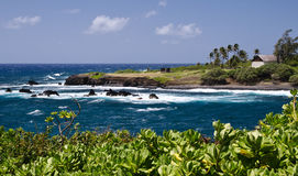 Scenic Maui Island's coastline, Hawaii Stock Photos