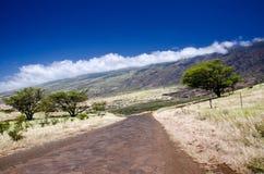 Scenic Maui Island's coastline, Hawaii stock photo