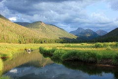 Scenic Meadow in the Uinta Mountains. Stock Photos
