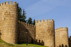 Scenic medieval city walls of Avila, Spain, UNESCO list Stock Photos
