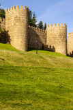 Scenic medieval city walls of Avila, Spain, UNESCO list Royalty Free Stock Image