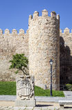 Scenic medieval city walls of Avila Stock Image
