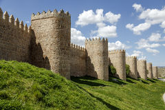 Scenic medieval city walls of Avila Stock Photo