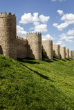 Scenic medieval city walls of Avila Royalty Free Stock Photography