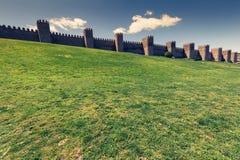 Scenic medieval city walls of Avila, Spain, UNESCO list Royalty Free Stock Photos