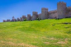 Scenic medieval city walls of Avila, Spain, UNESCO list Stock Image