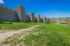 Scenic medieval city walls of Avila, Spain, UNESCO list Stock Images