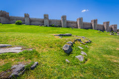 Scenic medieval city walls of Avila, Spain, UNESCO list Stock Photography
