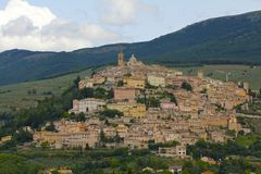 Scenic, Medieval Town of Montefalco, Italy Royalty Free Stock Photo