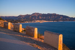 Scenic Mediterranean road Royalty Free Stock Photography