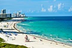 Scenic Miami. Florida coastline showing Miami in background Royalty Free Stock Images