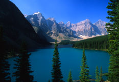 Scenic Morraine Lake in Banff Stock Image