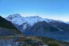 Scenic Mount Sefton & Mueller Glacier along Kea Point Track in Aoraki Mount Cook National Park Royalty Free Stock Images