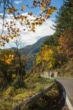 Scenic mountain autumn landscape near  village Langadia, Pelopon Stock Photography