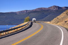 Scenic mountain drive Stock Photography