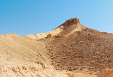 Scenic mountain with dry creek in the desert Royalty Free Stock Photography