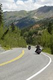 Scenic Mountain Highway. Winding road through the Rocky Mountains Royalty Free Stock Images