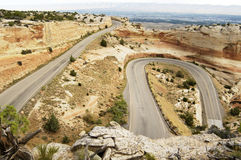 Scenic Mountain Highway. Winding road through the Colorado National Monument Stock Photography