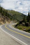 Scenic Mountain Highway. Winding road through the mountains Stock Image