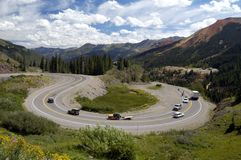 Scenic Mountain Highway Stock Photography