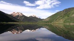 Scenic Mountain Lake Reflection. A scenic reflection in a Colorado mountain lake stock video