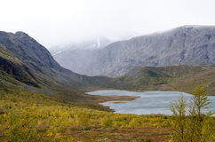 Scenic mountain lake in Scandinavia Stock Images