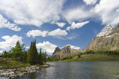 Scenic mountain lakes Stock Photos