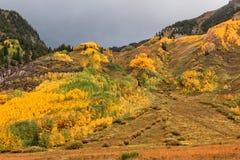 Scenic Mountain Landscape in Autumn Stock Photo