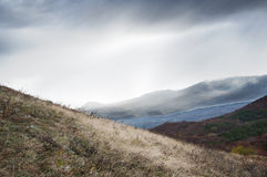 Scenic mountain landscape in the Crimea Stock Images