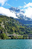 Scenic mountain landscape of Lake Lucerne in Swiss Knife Valley Stock Images