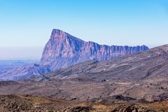 Mountain near Jebel Shams - Sultanate of Oman stock image