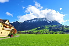 Scenic mountain landscape in Swiss Knife Valley Royalty Free Stock Photos